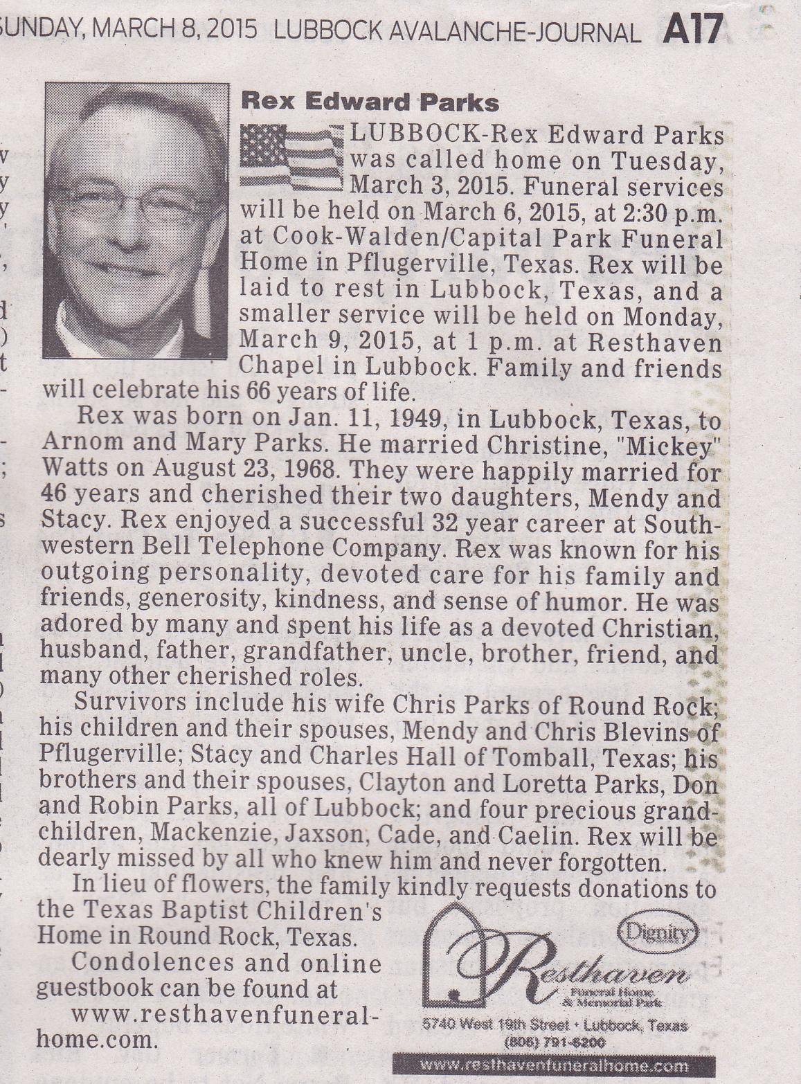 Help writing newspaper obituary